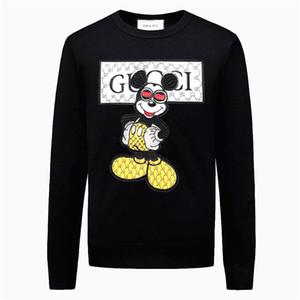럭셔리 디자이너 스웨터 남성 2019 브랜드 패션 풀오버 스웨터 남성 오 스트라이프 슬림 맞는 뜨개질 메두사 스웨터 남자 풀오버