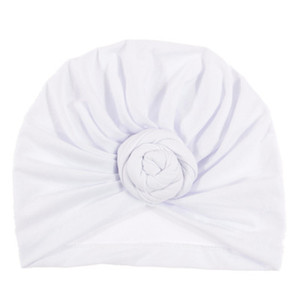 Bebek Üst Düğüm Turban Gül Şapka Bebek Yumuşak Turban Vintage Stil Retro Saç Aksesuarları Kız Erkek Baş Wrap EEA1318-3