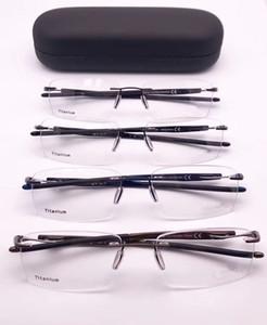 2019 Sport-Marca XO5126 óculos sem aro leves retangular óculos masculinos prescrição puro-titânio Case Óculos full-set
