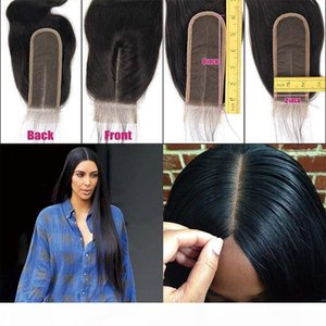 2x6 Lace Closure Human Hair With Baby Hair Peruvian Virgin Human Hair Closure For Black Women Lace Deep Middle Part Free With Bundles