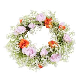 Casamento Porta Wreath Simulado Flor Gypsophila Porta Garland casamento suprimentos domésticos Móveis Adornement (colorido)