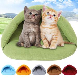 Мягкий спальный мешок 6 цветов флис Pet мат зима теплая гнездо Pet Cat маленькая собака щенок питомник кровать 1 шт.