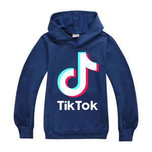 Tiktok Sweatshirt For Big Boy Girl Clothes Tik Tok Fall Winter Children Hooded Letter Hoodies Kid Sport Cotton Sweater Clothing