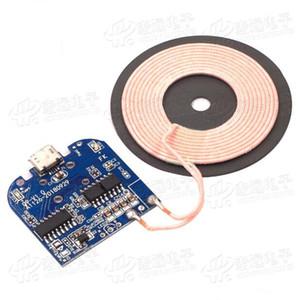 2 piezas de alta potencia 5 W 1A módulo transmisor inalámbrico/DIY cargador inalámbrico/soporte para Apple, Samsung, teléfonos Android
