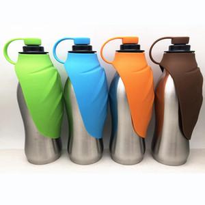 Bottiglia in acciaio inox Cane di acqua portatile bottiglia di corsa Cane di acqua distributore di acqua per i cani animali Suuplies RRA787