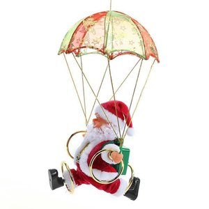 Durable Creative Electric Santa Claus Parachute Plush Doll Christmas Toy Lovely Christmas Gift Funny New Year Kids Gifts Party Christmas Dec