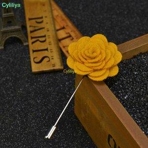 الرجال النساء 3D روز زهرة بروش لالدعاوى معطف الشتاء الياقة للديكور حفل زفاف Faovr هدية مجوهرات جديدة