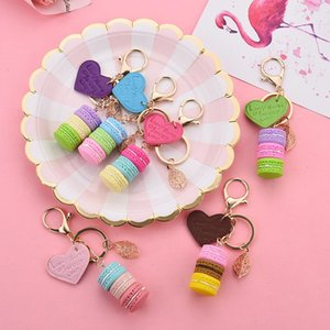 Key Chain foglio della lega di amore PU pendente del sacchetto dei monili di fascino chiave del regalo Migliore anello del partito simpatico portachiavi Donne torta portachiavi