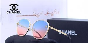 Toptan-Yeni moda güneş gözlükleri kadın büyük boy sunglases serin ayna