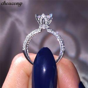 Choucong Handmade Promise Crown Anello 925 sterling silver Diamond cz Fidanzamento Wedding Band Anelli per le donne Gioielli da uomo
