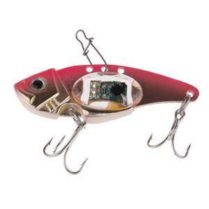 Luz LED atraer a la pesca gancho triple de pesca electrónico cebo lámpara trastos pescados del señuelo luz intermitente de la lámpara caliente