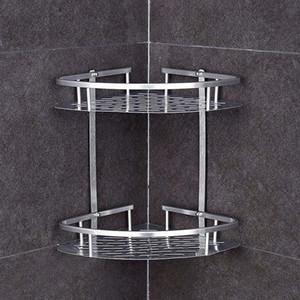 Titular nórdico pared del arte colgantes plataforma de baño artículos de tocador Estante de almacenamiento potente adhesivo etiqueta Organizador Bastidores champú cosméticos de almacenamiento