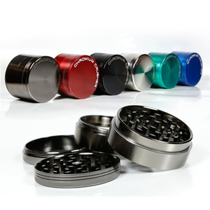 CHROMIUM CRUSHER Metal Grinder 63mm 55mm 50mm 40mm 4 Sizes 6 Color Tobacco Grinders Herb Grinders Spice Crusher DHL Free