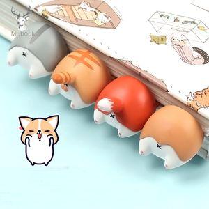 Dog encantador dos desenhos animados Cat Hamster Fox Ass Marcadores novidade Livro de leitura do item presente Criativa para Crianças Crianças artigos de papelaria