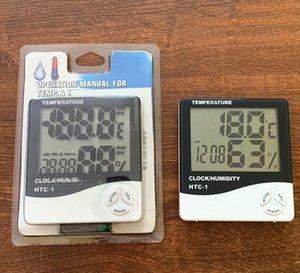 Цифровой ЖК-дисплей температуры гигрометр часы измеритель влажности термометр с часами Календарь сигнализации HTC-1 500шт
