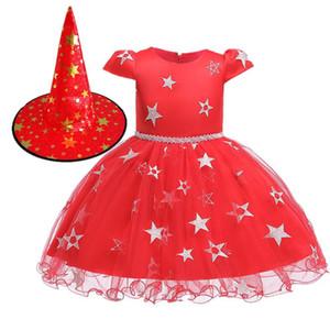 Girls 1 a 10 anni abiti estivi tutu, partito principessa del bambino / vestiti da ballo, i bambini adolescente vestiti di Halloween, 2AAX808DS-33