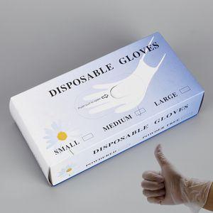 Одноразовые гигиенические перчатки из ПВХ прозрачные защитные перчатки одноразовые перчатки из ПВХ для домашнего сада школьной уборки охраны труда