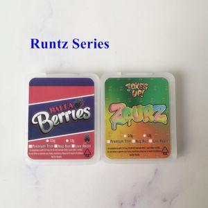 Cookiis Jungle Boys Runtz Balla Berries Estratti di bacche di imballaggio Plastic SD Carta Pacchetto Caso Custodia Concentrato di cera Premium Trim Nug Run Live Resina
