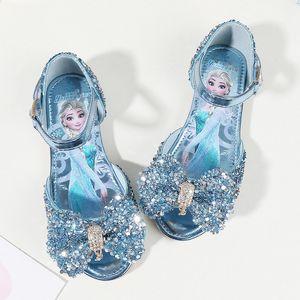 Детская обувь Детские Девушки моды принцесса Весна Симпатичные косплей обувь сандалии Chaussure Enfants Flat Party