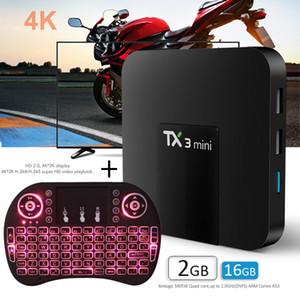 Android TV Box TX3 Mini Android 8.1 Amlogic S905W com Wifi 2.4G Suporte Smart TV 2 + 16GB com Mini Keyboard 7 Blacklight