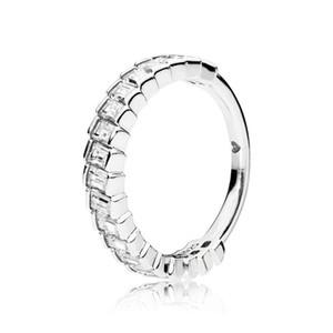 Nuovo arrivo Clear CZ Diamond Ring Set scatola originale per Pandora 925 Sterling Silver Glacial Beauty Ring donne ragazze fedi nuziali