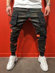 Nuovo Mens casuali Camouflage pantaloni scarno sottile dei pantaloni della matita di stile di modo casuale con 3 colori Asiatica Taglia