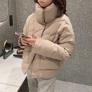 MiShow Jacket Mulheres Winter curto grosso casaco quente solto Feminino Parka Moda Feminina Casual Overcoat MX19D8717