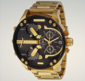 Top marca Tamanho Grande Assista Men Designer Luxo automáticos Data calendário ouro do estilo relógio de pulso 48MM Esporte Militar Stainless Steel Relógio Masculino