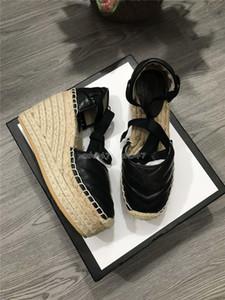 Классический стиль Сандалии на высоком каблуке женские дизайнерские сандалии из натуральной кожи на платформе espadrille Высота каблука 12см Размер модели платформы 35-41