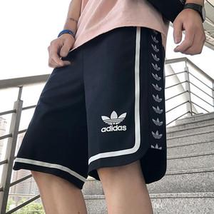 Нового свободные спортивный работают фитнес мужских дизайнерских шорт прилива хлопок хип HIP улица мужчина Sweatpants новых случайные штаны трека