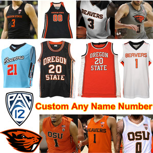 Oregon State Beavers OSU Basketball Jersey NCAA Payto Tres Geklingel Thompson Kelley Reichle HollinsA.C. Grüne Barry Gary Payton II