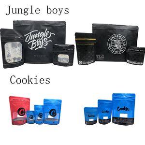 3.5g 7g 1oz 8oz Джунгли мальчиков сумки Печенье мешки с 40 видов ароматных стикеров стоять мешок для сухой травы цветок