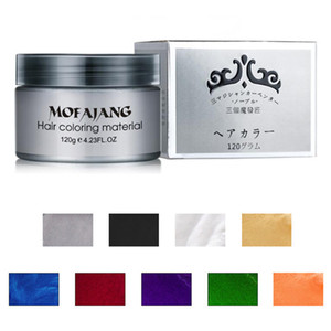 9 Renkler mevcut Mofajang Saç Balmumu Saç Şekillendirici Pomad 120g MOFAJANG Saç Balmumu için 120 adet / karton kutu