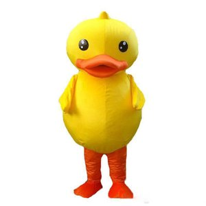 2019 vente chaude de la mascotte de canard jaune mascotte de canard adulte costume