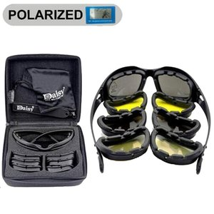 Sport Polarized Sunglasses Men X7   C5 Tactical Glasses Goggles 4 Lens Camping Hiking Glasses