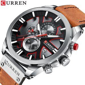 Relogio Masculino Curren Fashion Creative Quartz Montres Hommes Montres Montres Casual Business Bracelet Montre Horloge MONTRE HOMME