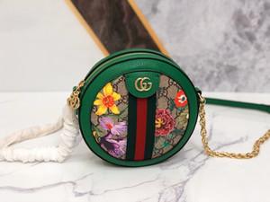 Ophidia 2020 runde Kuchen Frauen Beutel echte Leder-Designer Luxus-Handtaschen Geldbörsen Twist Handtasche Messenger Schultertaschen Totes Einkauf