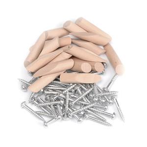 200pcs de poche Vis trou et chevilles pour 9.5MM Forets bois de poche Trou Jig Meubles d'assemblage Accessoires bois Branchez