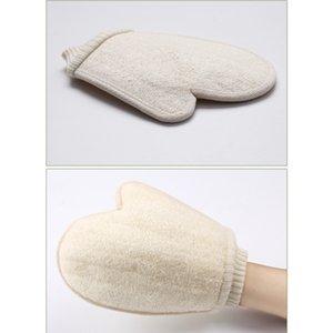 Luffa-Schwamm Bad Handschuhe Scrubbing Peeling Handschuhe Hammam Scrub Mitt Magie Peeling Peeling Tan Entfernen Mitt For Body Spa FY6105