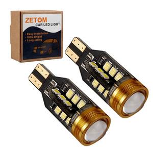 ZETOM 9-912 T15 W16W 24SMD 1 COB 6000K Chipsets ، 2835 LED لمبات Backup ، عكس الضوء ، حزمة 2