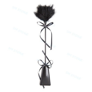 Ticker di whip ticker di 45cm di colore nero, fustigatore, cinquanta sfumature di Grey Tease Tool A876