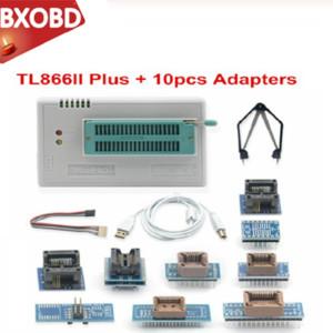Newest Minipro TL866A TL866II Plus USB Universal programmer + 10 items IC Adapters High speed TL866CS English manual