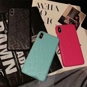 Moda İnce Cep Telefonu Kılıfları Tasarımcı Telefon Kılıfı Için iPhone XS Max / XR X 8/7/6 Artı Darbeye Dayanıklı Cep Telefonu Geri Kabuk
