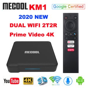 Mecool KM1 ATV Google Certified Android 10 TV Box 4GB 32GB Amlogic S905X3 Androidtv Prime Video 4K Dual Wifi 2T2R Set Top Box