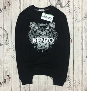 2020 Новый Мужчины Женщины KENZ0 Embroidere тигр логотип свитер костюмы Перемычка куртка Женская Толстовки Толстовки размер S-XXL