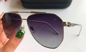 lüks-tasarımcı turuncu dava ile açık gözlük UV400 1198 Metal pilotu büyük çerçeve en kaliteli cömert avangard tarzı güneş gözlüğü