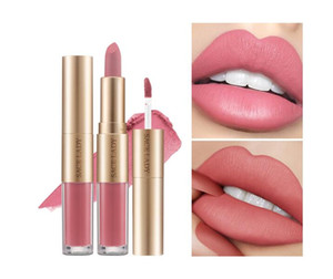 SACE LADY 2 in 1 Lipstick Lip Gloss Long Lasting Moisture Red Lip Matte Liquid Lipstick Waterproof 12 Colors Lips Makeup