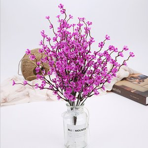 37cm Artificial Flower Spring Plum Blossom Branch Flower Bouquets Flower bud For Wedding Party Decors
