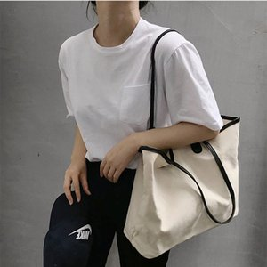 Superior2019 Concise Literature Fresh Leisure Time Light Single Shoulder Handbag Will Capacity Cloth Bag Package Chic Canvas