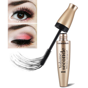 YANQINA Professional Black 4D Fiber Mascara With Silicone Brush Head Long Thick And Not Blooming Water Bright Black Mascara